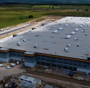 Budowa centrum logistycznego Amazona w Kołbaskowie